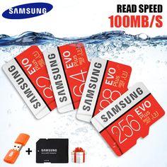 Original SAMSUNG Micro SD Card 32GB 64GB 128GB 265GB Memoria Micro SD High Speed 100MB/S U3 4K 128GB 265GB SDXC Microsd Card  Price: 16.00 & FREE Shipping  #tech|#electronics|#bluetooth|#computers