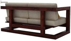 Buy Skyler Wooden Sofa Sets (Mahogany Finish) Online in India - Wooden Street Steel Furniture, Ikea Furniture, Pallet Furniture, Online Furniture, Furniture Design, Furniture Cleaning, Furniture Stores, Diy Sofa, Do It Yourself Sofa