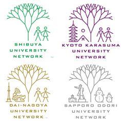 シブヤ大学 ー 姉妹校のロゴ:全国そろえたいロゴ | ロゴストック
