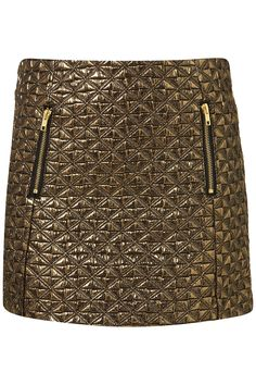 Topshop Gold Jacquard Mini Skirt pair this with a white short sleeved shirt an jewelled collar and Carvan round seaquin purse and black Dolce heels with ribbon and you got something fantasic Cody Horn, Bling Bling, Topshop, Shops, New Years Eve Outfits, Renaissance Fair, Baroque Fashion, Summer Essentials, Ss16