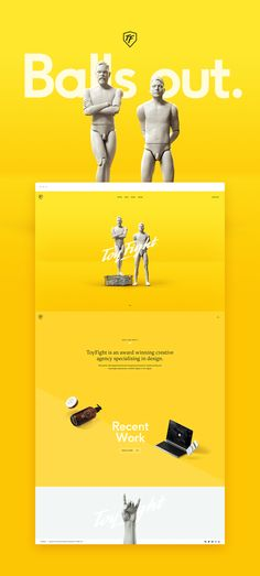 ToyFight is an award winning creative agency specialising in design. Web Design Agency, Ad Design, Design Agency Website, Website Design Inspiration, Graphic Design Inspiration, Maquette Site Web, Layout, Printing Websites, Web Design Projects