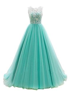 BARGAIN-NET EZYBUY (USA): Apparel: Dresstells® Women's Long Tulle Prom Dress Dance Bridesmadi Gown with Lace