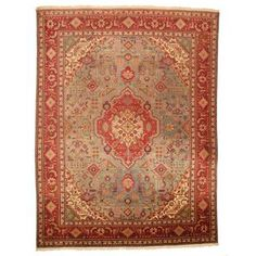 @Overstock.com - Antique 1940's Persian Hand-knotted Tabriz Turquoise/ Red Wool Rug (10' x 13'1) - With a distinctive style, a gorgeous area rug from Iran will add some splendor to any decor. This Tabriz area rug is hand-knotted with a floral pattern in shades of turquoise, red, ivory, green, brown, purple and peach.  http://www.overstock.com/Worldstock-Fair-Trade/Antique-1940s-Persian-Hand-knotted-Tabriz-Turquoise-Red-Wool-Rug-10-x-131/8372354/product.html?CID=214117 $2,106.99