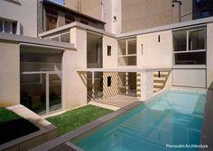 Modern stone house in Lyon, France - Residencia contemporánea de piedra maciza en Lyon