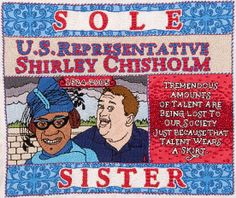 Self-Portrait with Shirley Chisholm/Embroidery/9.5 Inches x 11 Inches/2005 michaelaaronmcallister.com