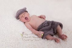 Crochet Shorts Trousers (includes two bonus newborn hats for photo props) INSTANT DOWNLOAD PDF from Thomasina Cummings Designs