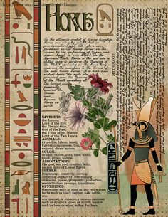 Horus, Book of Shadows page, Ancient Egyptian Gods and Goddesses Egyptian Mythology, Egyptian Symbols, Egyptian Goddess, Egyptian Art, Witchcraft Spell Books, Pagan Witchcraft, Wicca, Ancient Egypt Art, Grimoire Book