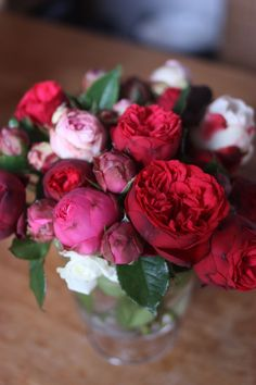 pink and red roses for my friends
