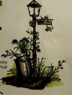 COUNTRY LAMP POST & MILK CAN Sells for 8.99. Made by: Art Impressions rubber stamps You can purchase all items in my ebay store: Pat's Rubber Stamps & Scrapbooks, Click on the picture & see the listing , or call me 423-357-4334 with order, We take PayPal. You get FREE SHIPPING ON PHONE ORDERS of $30.00 or more. If it says sold I have more. Use my search engine to find the items you are interested in.