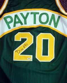 Gary Payton Seattle SuperSonics NBA Hand Signed Authentic Style Green Jersey  .  284.99. Gary Payton 62232fb71