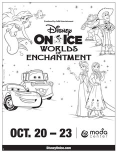 awesome Printable - Disney in Ice: Worlds of Enchantment Coloring Page