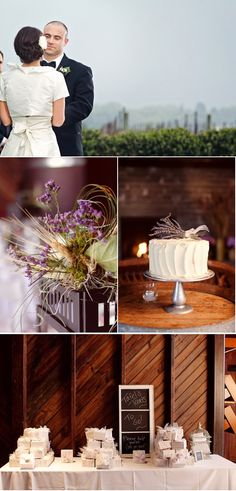 I love the lavender on the simple cake.  Definitely going to be one of my wedding flowers!