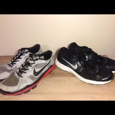 ❗️BOGO❗️Nike Men's Running Shoes But one get one HALF OFF! TWO size 13 Nike running shoes. Very comfortable! Gently used with imperfections, but still in good condition. Nike Shoes Athletic Shoes