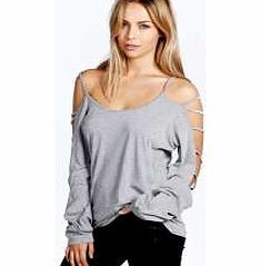 boohoo Sophie Strappy Sleeve Loose Fit Top - grey marl Make your top a talking point with textures - think brocades, quilting and fluffy-feel. Jersey kinda gal? Shake it up with shapes. Crop tops get cutting edge in boxy, boyfriend fit shapes and shell to http://www.comparestoreprices.co.uk/womens-clothes/boohoo-sophie-strappy-sleeve-loose-fit-top--grey-marl.asp