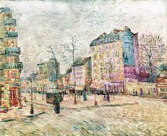Boulevard de Clichy - Vincent van Gogh Completion : 1887 : Paris, France Style: Post-Impressionism : cityscape