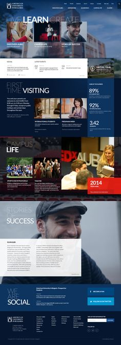 American University in Bulgaria #webdesign #school