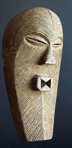 Classic Songye Kifwebe mask from Congo, Africa