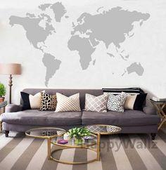 World Map Wall Sticker Decal