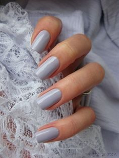 A manicure is a cosmetic elegance therapy for the finger nails and hands. A manicure could deal with just the hands, just the nails, or Sns Nails Colors, Gray Nails, Fun Nails, Pale Nails, Grey Nail Polish, Work Nails, Blue Nail, Polish Nails, Beach Nail Designs