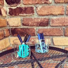 Monogrammed Pencil Cup, Custom, Personalized, Initial, Pen Cup. Holder, Storage, Desk, Organization, Secretary, Tutor, Professor, Teacher