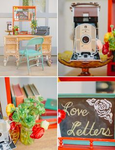Love letters - Retro-Meets-Rustic Wedding inspiration by Folklore Vintage Rentals (event design, coordination + styling) + Jen Wojcik Photography - via greenweddingshoes
