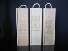 For Robert- grooms dad. wedding party laser etched wine boxes by shindigg | notonthehighstreet.com