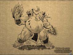 Обои для рабочего стола Орк-маг (Warcraft 2: Battle.net Edition)