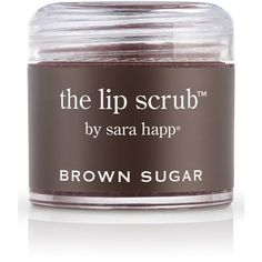 sara happ 'The Lip Scrub - Brown Sugar' Lip Exfoliator (€22) ❤ liked on Polyvore featuring beauty products, skincare, lip care, lip treatments, makeup, beauty, filler, none, sara happ and lip treatment