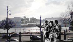 Hungarian Arrow Cross men on the banks of the Danube opposite Buda Castle in Budappest 1944 - 2018 Buda Castle, Budapest Hungary, Dublin, Ww2, Banks, Arrow, New York Skyline, Past, Travel