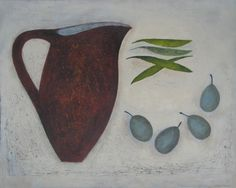 Jug with Peas and Plums by Vivienne Williams