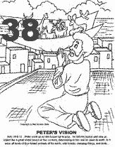Peter S Vision And Cornelius Coloring Page Coloring Pages
