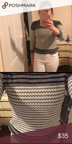 J crew chevron sweater! Beautiful, lightweight chevron sweater! Perfect for multiple seasons! J. Crew Sweaters Crew & Scoop Necks