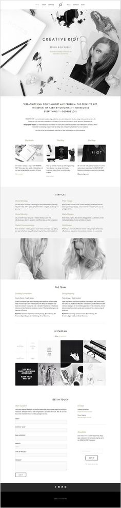 Creative Riot - this design is beautiful and minimalistic. :) #Responsive #Web #design: