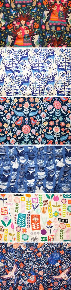 flower art Swedish Folk Art Design Challenge Winners - Wouldnt you just love a bouquet of flowers inspired by the winning design, Swedish Folk Artby Esther Nariyoshi,