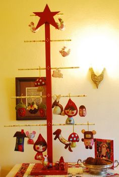 Love this idea!  I would use it as a display for my ornaments at craft shows.