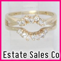 images solitaire ring wraps | ... Yellow Gold Round Diamond Solitaire Enhancer Jacket Wrap Ring .42ct