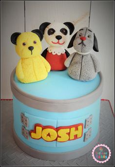 Sooty, Sweep & Sue - Cake by Dollybird Bakes
