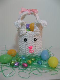crochet easter bunny bag