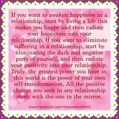 if you want happiness and light in your relationship