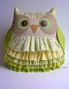 © КЛУБ РУКОДЕЛИЯ ✖✖✖ HANDMADE Sewing Toys, Sewing Crafts, Sewing Projects, Owl Sewing Patterns, Quilt Patterns, Owl Pillow, Felt Owls, Owl Crafts, Sewing Pillows