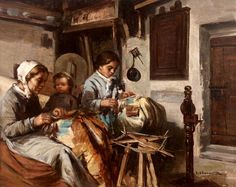 james lobley - Google zoeken Bobbin Lacemaking, Lace Painting, Lace Art, Bobbin Lace Patterns, Lace Jewelry, Victorian Art, Lace Making, Female Art, Fiber Art