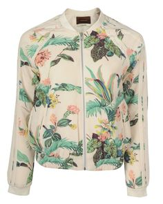 MAISON SCOTCH Womens Mutli Colour Retro Floral Bomber Jacket at HelloShoppers