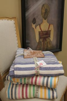 Cozy up with a stripedy blanket from Home At Last by Dan Brungardt.