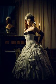 Steampunk wedding dress by Dark Garden.  © Joel Aron.