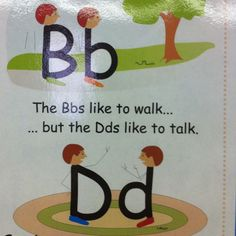 Great way to tell the difference between d and b.