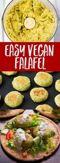Easy Vegan Falafel. Bonus: They're oil-free!