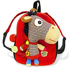 Eco Snoopers Plush Backpack Yippee-Yi Horse Let your youngster gallop off to school with this backpack and he'll have a friend in tow. The sturdy backpack is ea Animal Backpacks, Cute Backpacks, Horse Backpack, Karma, Funky Gifts, Stylish Jewelry, Binky, Baby Store, Cute Bags