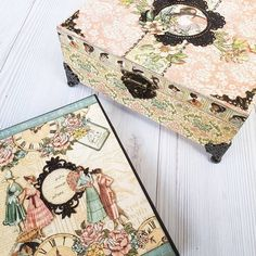 #ladies #diary #greeting #book #handmade #box #plannerlove #planner #love #scrapbook #scrapbooking #album #minialbum #graphic45 Graphic 45, Cigar, Mini Albums, Decorative Boxes, Scrapbooking, Handmade, Instagram, Hand Made, Scrapbooks