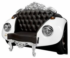 project Baroque armchair 7 Mixing Baroque Elements and Car Art: Distinctive Glamour Beetle Armchair Art Furniture, Unique Furniture, Cheap Furniture, Automotive Furniture, Furniture Outlet, Bedroom Furniture, Furniture Design, Hyderabad, Discount Furniture Stores