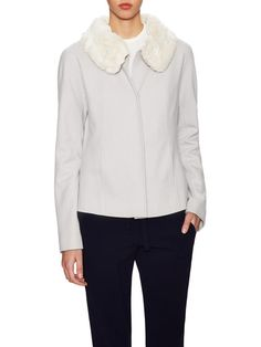 Wool Jacket with Removable Faux Fur Collar by OneForty8 by Lafayette 148 New York at Gilt